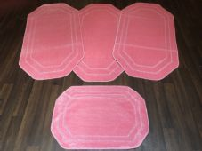 ROMANY WASHABLES NEW GYPSY SETS OF 4PCS LIGHT PINK MATS NON SLIP TOURER SIZE